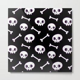 Cute Skulls Metal Print