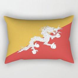 Bhutan flag emblem Rectangular Pillow