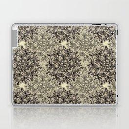 Lively Flower Mandala in mocca & cream Laptop & iPad Skin