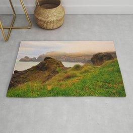 Coastal landscape in Azores Rug