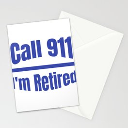 Retired Police Officer Cop Retirement Gift design Stationery Cards