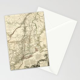 American Revolutionary War Map (1782) Stationery Cards