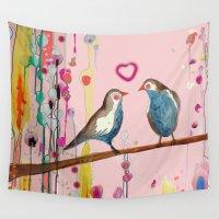 et Wall Tapestries featuring valentine et valentin by sylvie demers