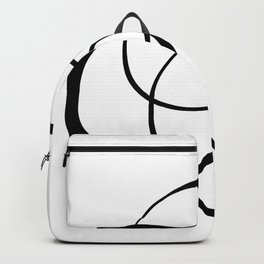 Free hand lines #114BW Backpack