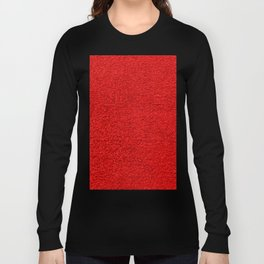 Rose Red Shag pile carpet pattern Long Sleeve T-shirt