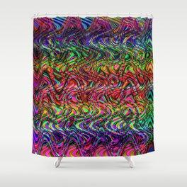 Waving Neon Shower Curtain