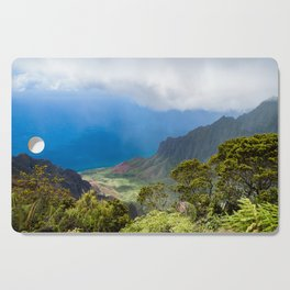 Kalalau lookout in Koke'e State Park - Kauai, Hawaii Cutting Board