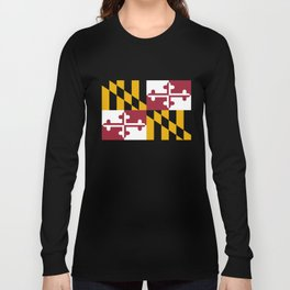 State flag of Flag Maryland Long Sleeve T-shirt