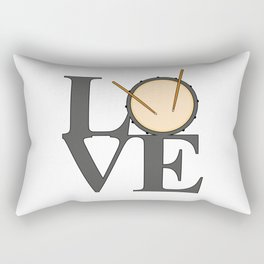 Love Drums Rectangular Pillow