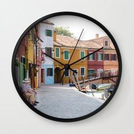 Sunday Morning on Murano Island, Venice, Italy Wall Clock