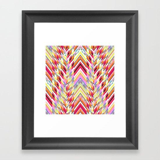 Technicolor Southwest Chevron Framed Art Print