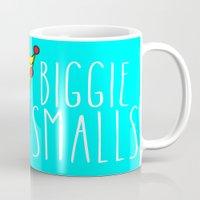 biggie smalls Mugs featuring Biggie Smalls by Hussein Ibrahim