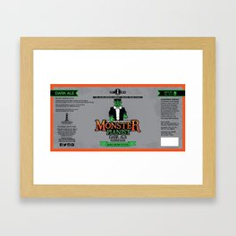 Monster Pianist Dark Ale Label Framed Art Print