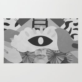 What is Art? (Black and White) Rug