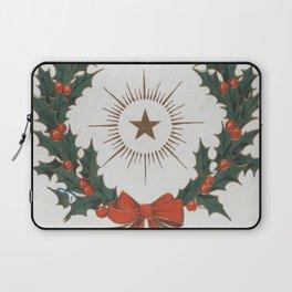 Vintage Christmas Greetings Wreath (1906) Laptop Sleeve