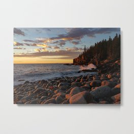 Sunrise at Otter Cliff III Metal Print