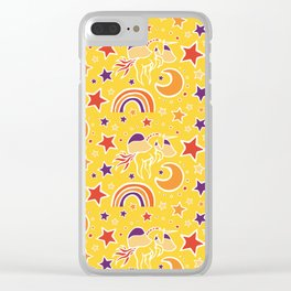 """Take a Leap"" Pegasus Print by Mellie Test Clear iPhone Case"