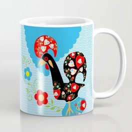 Portuguese Rooster of Luck with blue dots Coffee Mug