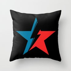 Bowie Star black Throw Pillow