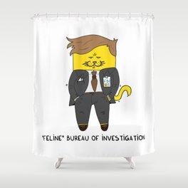 Feline Bureau Of Investigation Shower Curtain