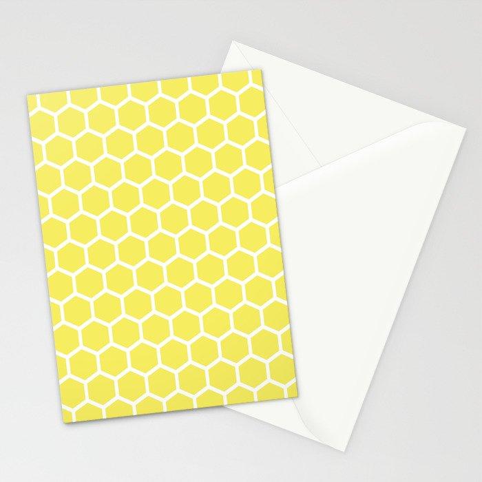 Summery Happy Yellow Honeycomb Pattern - MIX & MATCH Stationery Cards