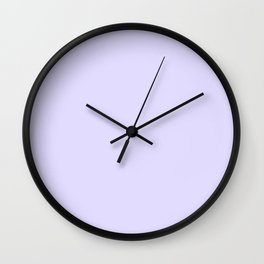 Solid Light Lilac Wall Clock