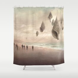 Floating Giants Shower Curtain