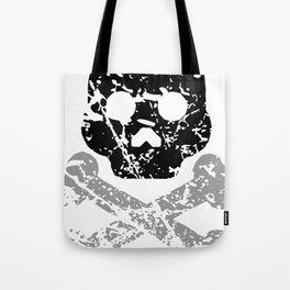 Pirate Skull with Bones Vintage Retro Style Tote Bag