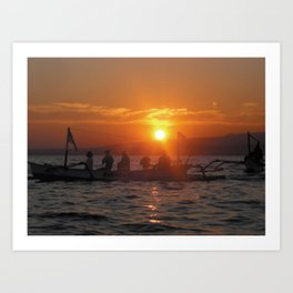 Bali Sunrise Art Print