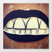 teeth Canvas Prints featuring  Teeth by Hayleydonovan