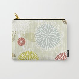 Abstract Floral Beige by Friztin Carry-All Pouch