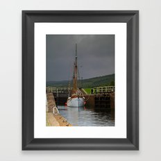 Caledonian Canal Framed Art Print