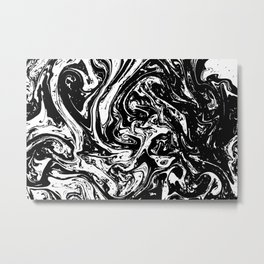 Black liquid ink 9 Metal Print