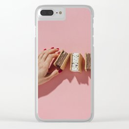 Ice cream sandwiches Clear iPhone Case