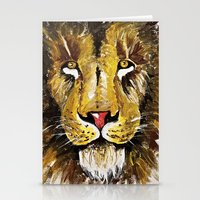 the lion king Stationery Cards featuring Lion King by Devon