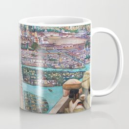 Mural of the Aztec city of Tenochtitlan by Diego Rivera Coffee Mug