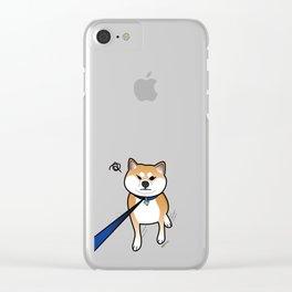 Shiba Inu Says No! Clear iPhone Case
