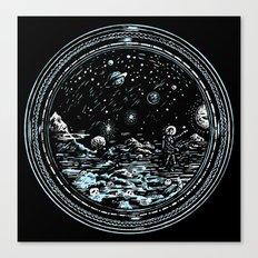 Miniature Circle Landscape 2: Astronausea.. Canvas Print