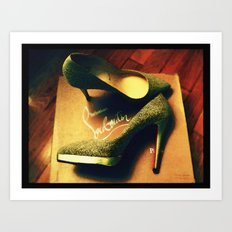 Shoes - Louboutin V Art Print