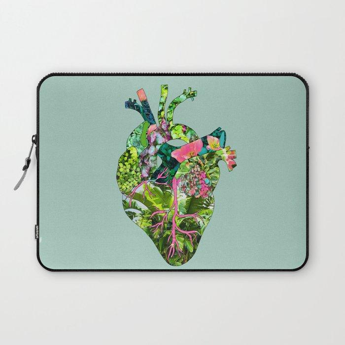 Botanical Heart Mint Laptop Sleeve