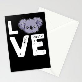 Animal Love Koala Bear Australia Panda Outback Stationery Cards