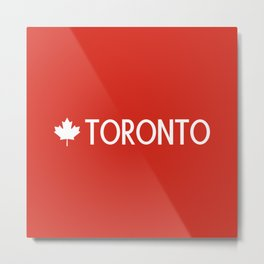 Toronto (White Maple Leaf) Metal Print