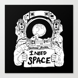 Major Spaceman Canvas Print