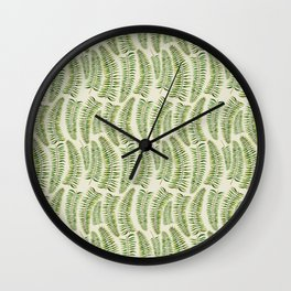 Palm leaves in tiger print Wall Clock