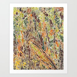 Duke Forest Trail 2 Art Print