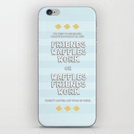 Waffles Friends Work iPhone Skin