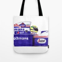 senna Tote Bags featuring Senna by One Curious Chip