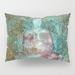 Watercolor Mandala Buddha in Galaxy Pillow Sham