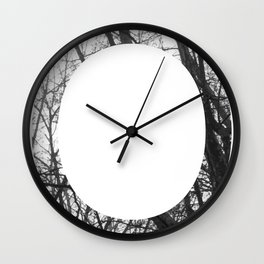 Minimal Letter O Print With Photography Background Wall Clock