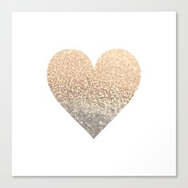 GOLD HEART Canvas Print